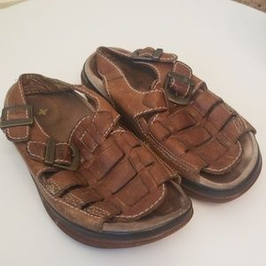 Dr Martin Leather Tan Sandals